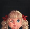 Fadi Al Jabour, Doll 1, from the series Near Death, 2011, oil and acrylic on canvas, 120 x 120 cm Photo: Tarek Tuma/Mosaic Syria